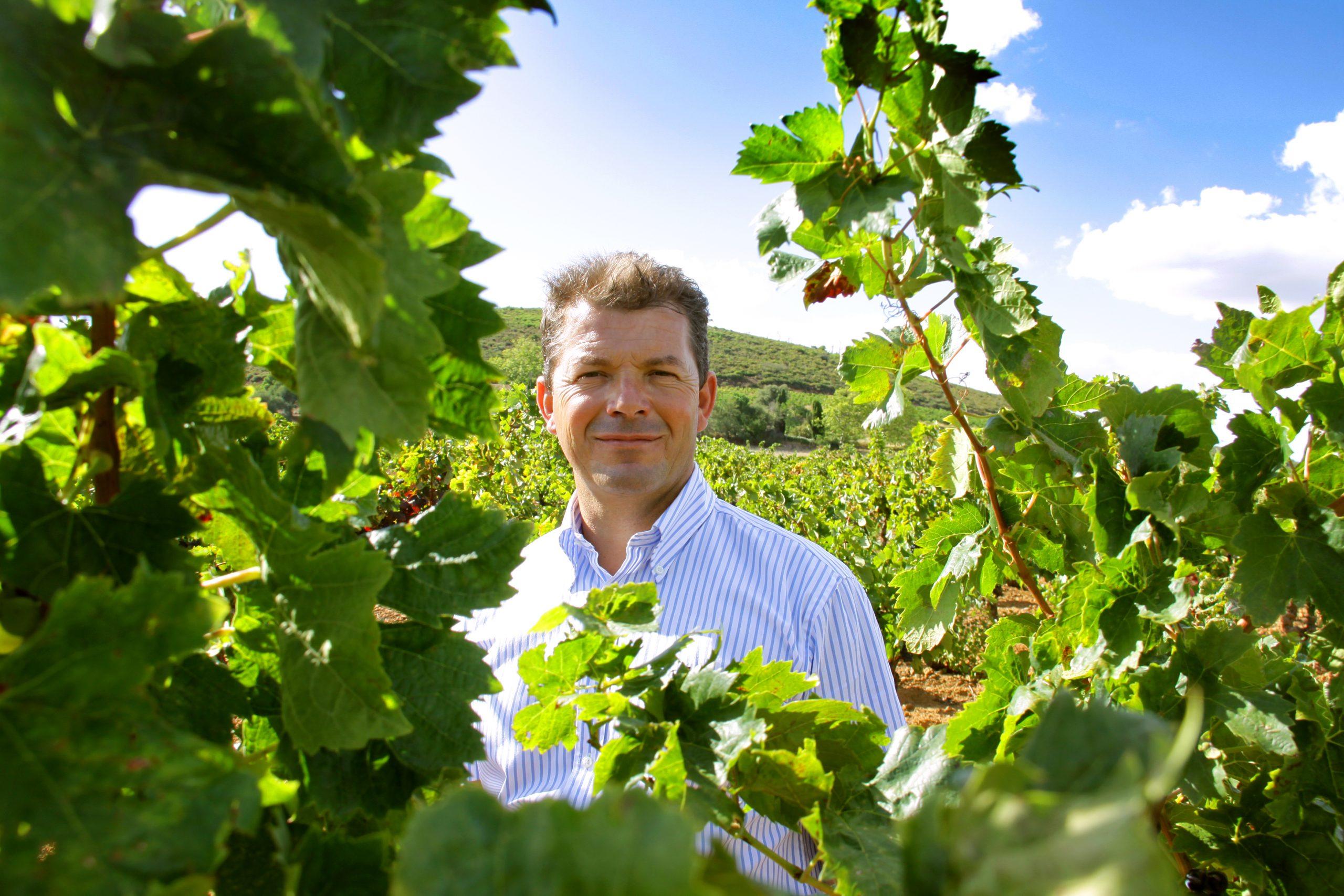 Bruno Laboucarie dans une vigne